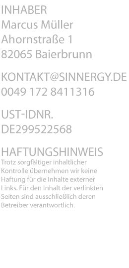 Kontakt@sinnergy.de +49 172 8411316